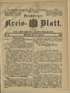 Bromberger Kreis-Blatt, 1885, nr 14