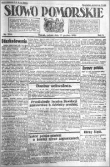 Słowo Pomorskie 1921.12.17 R.1 nr 288