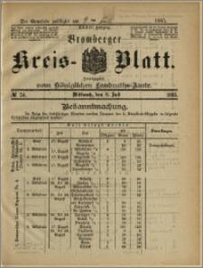 Bromberger Kreis-Blatt, 1885, nr 54