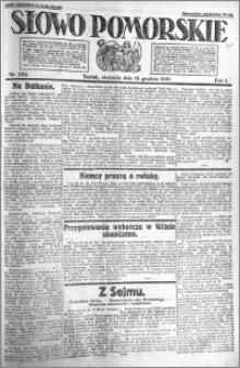 Słowo Pomorskie 1921.12.18 R.1 nr 289