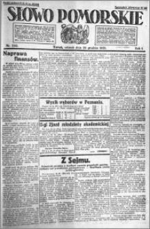 Słowo Pomorskie 1921.12.20 R.1 nr 290