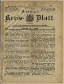 Bromberger Kreis-Blatt, 1887, nr 1