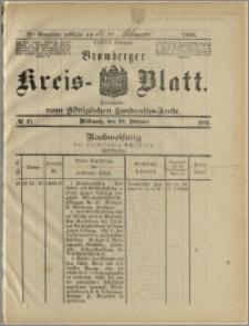 Bromberger Kreis-Blatt, 1888, nr 15