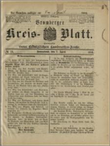 Bromberger Kreis-Blatt, 1888, nr 28