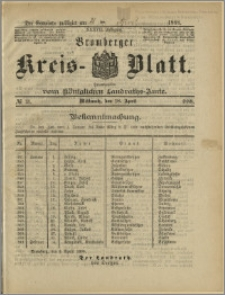 Bromberger Kreis-Blatt, 1888, nr 31