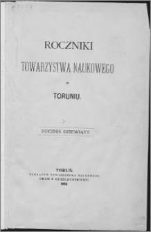 Roczniki Towarzystwa Naukowego w Toruniu, R. 9, (1902)
