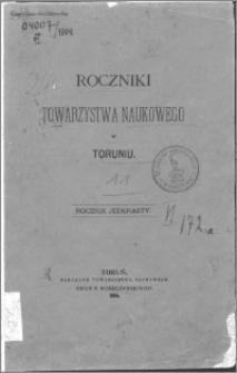 Roczniki Towarzystwa Naukowego w Toruniu, R. 11, (1904)