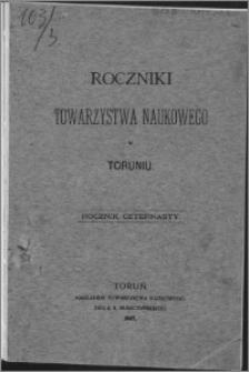 Roczniki Towarzystwa Naukowego w Toruniu, R. 14, (1907)