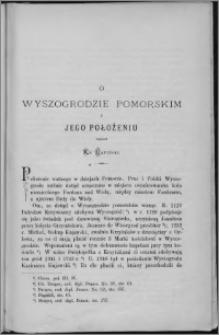 O Wyszogrodzie Pomorskim i jego położeniu