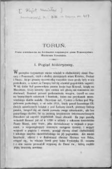 Toruń : praca uwieńczona na konkursie rozpisanym przez Towarzystwo Naukowe Toruńskie