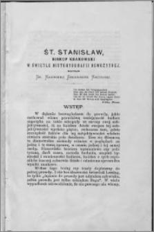 Śt. Stanisław, biskup krakowski w świetle historyografii nowożytnej