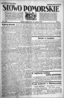 Słowo Pomorskie 1921.12.23 R.1 nr 293