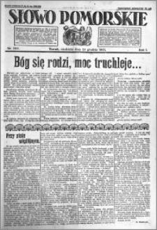 Słowo Pomorskie 1921.12.25 R.1 nr 295