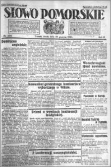 Słowo Pomorskie 1921.12.28 R.1 nr 296