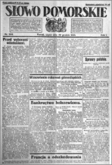 Słowo Pomorskie 1921.12.30 R.1 nr 298