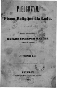 Pielgrzym, pismo religijne dla ludu 1870 nr 1