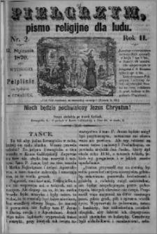 Pielgrzym, pismo religijne dla ludu 1870 nr 2