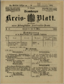 Bromberger Kreis-Blatt, 1902, nr 22