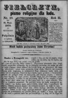 Pielgrzym, pismo religijne dla ludu 1870 nr 19