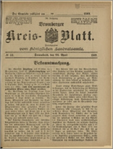 Bromberger Kreis-Blatt, 1909, nr 33