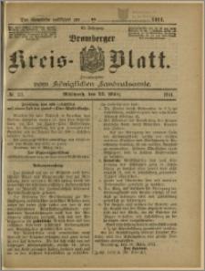 Bromberger Kreis-Blatt, 1911, nr 23