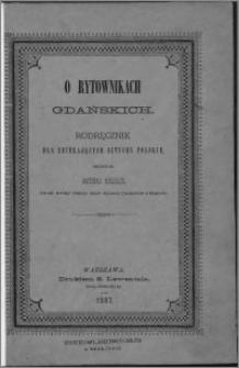 O rytownikach gdańskich : podręcznik dla zbierających sztychy polskie