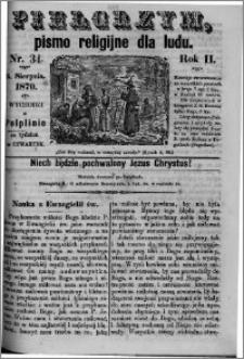 Pielgrzym, pismo religijne dla ludu 1870 nr 34