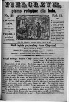 Pielgrzym, pismo religijne dla ludu 1870 nr 36