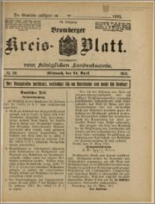 Bromberger Kreis-Blatt, 1915, nr 30