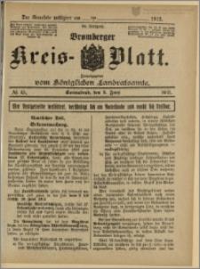 Bromberger Kreis-Blatt, 1915, nr 45
