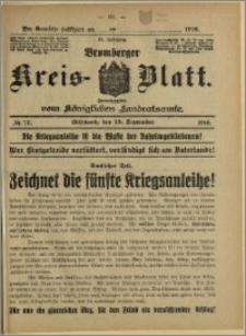 Bromberger Kreis-Blatt, 1916, nr 73