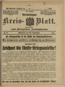 Bromberger Kreis-Blatt, 1916, nr 77