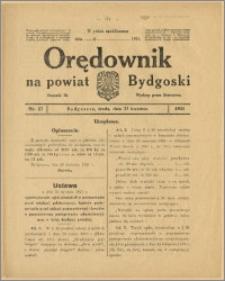 Orędownik na Powiat Bydgoski, 1921, nr 17
