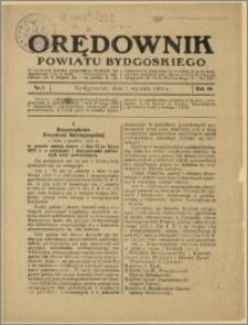 Orędownik Powiatu Bydgoskiego, 1931, nr 1