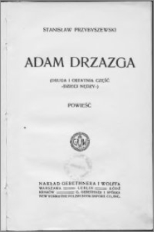 Adam Drzazga : powieść