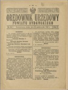 Orędownik Urzędowy Powiatu Bydgoskiego, 1923, nr 45