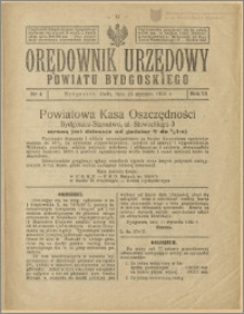 Orędownik Urzędowy Powiatu Bydgoskiego, 1924, nr 4