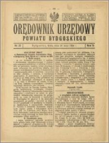 Orędownik Urzędowy Powiatu Bydgoskiego, 1924, nr 22