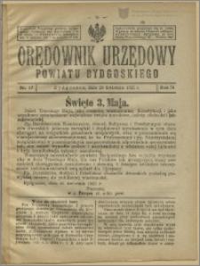 Orędownik Urzędowy Powiatu Bydgoskiego, 1925, nr 17