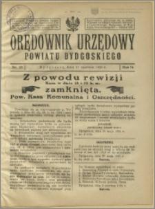Orędownik Urzędowy Powiatu Bydgoskiego, 1925, nr 23