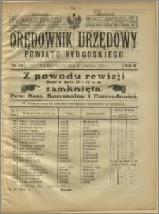 Orędownik Urzędowy Powiatu Bydgoskiego, 1925, nr 24
