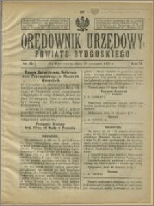 Orędownik Urzędowy Powiatu Bydgoskiego, 1925, nr 34