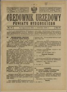 Orędownik Urzędowy Powiatu Bydgoskiego, 1926, nr 15