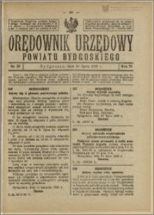 Orędownik Urzędowy Powiatu Bydgoskiego, 1926, nr 29
