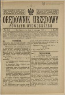 Orędownik Urzędowy Powiatu Bydgoskiego, 1927, nr 33