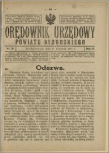 Orędownik Urzędowy Powiatu Bydgoskiego, 1927, nr 39