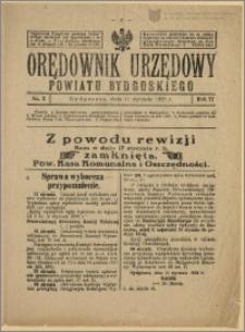 Orędownik Urzędowy Powiatu Bydgoskiego, 1928, nr 2