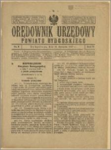 Orędownik Urzędowy Powiatu Bydgoskiego, 1928, nr 4