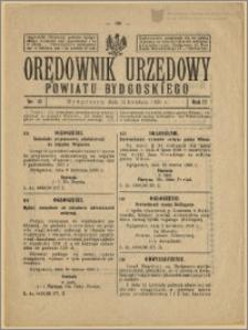 Orędownik Urzędowy Powiatu Bydgoskiego, 1928, nr 15