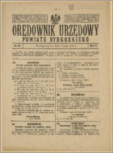 Orędownik Urzędowy Powiatu Bydgoskiego, 1928, nr 20